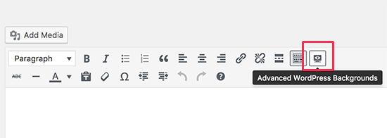 WordPress advanced background button
