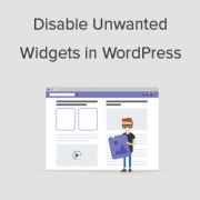 How to Disable Unwanted Widgets in WordPress
