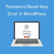 How to Fix Password Reset Key Error in WordPress