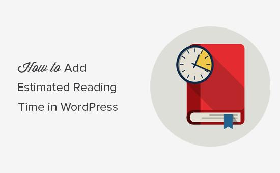 Display post reading time in WordPress blog posts