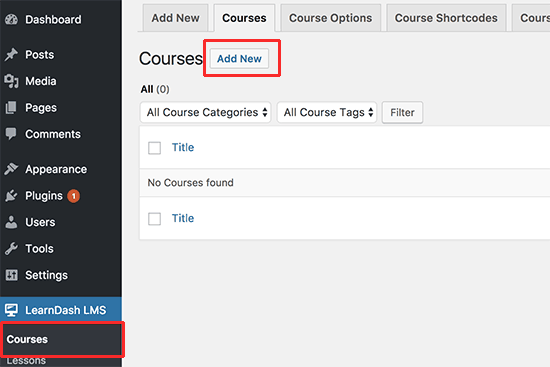 Add new course
