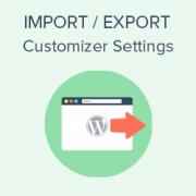 How to Import / Export WordPress Theme Customizer Settings