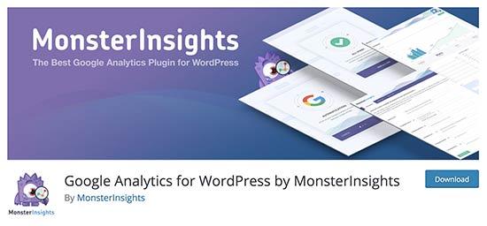 MonsterInsights plugin page