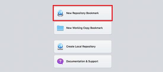 New repository bookmark