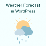 How to Show Weather Forecast in WordPress
