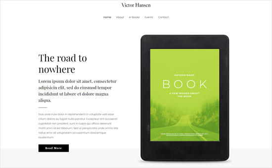 Astra's ebook author template