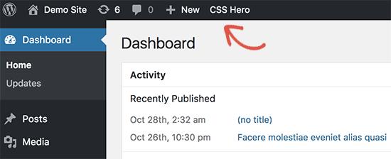 Launch CSS Hero