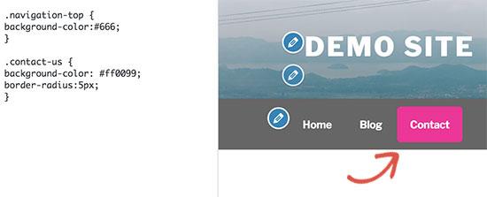 Changing background color of a single menu item in WordPress navigation menus