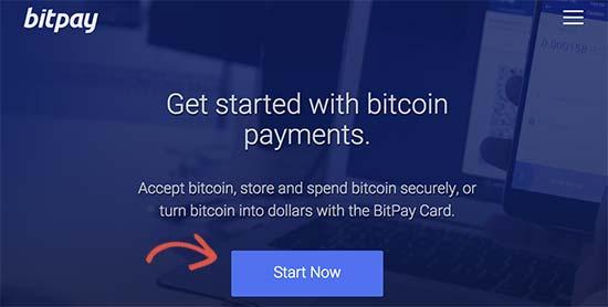 BitPay signup