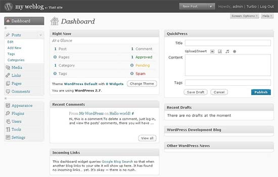 WordPress 2.7