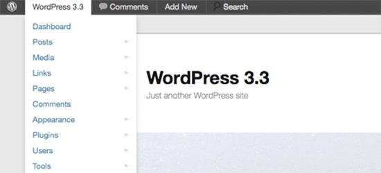 WordPress 3.3 UI