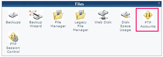 Managing FTP accounts inside cPanel