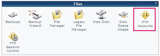 Gérer les comptes FTP dans cPanel