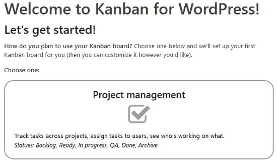 Kanban Boards for WordPress Plugin - Kanban Board Types