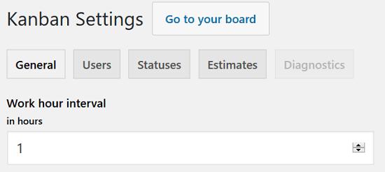 Kanban Boards for WordPress Plugin - Settings, General