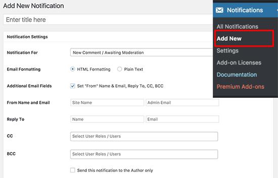 Add new custom notification