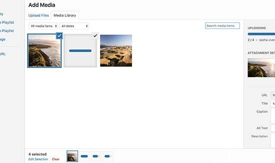 Uploading multiple files via Media uploader in WordPress