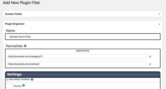 Creating a plugin filter