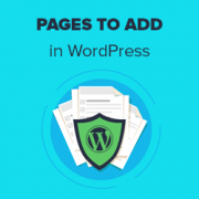 11 Important Pages that Every WordPress Blog Should Have (2021)