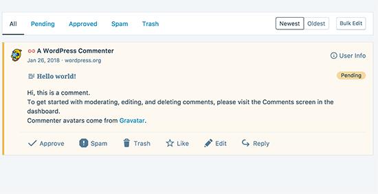 managing comments in WordPress desktop app