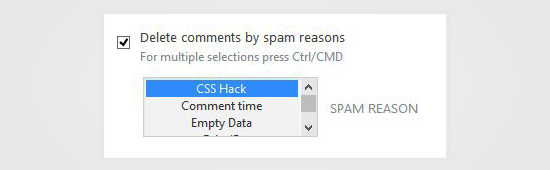Delete Comments by Spam Reason