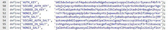 Security Config Keys