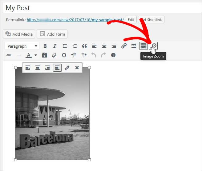 Ajout d'un zoom aux images de messages / pages