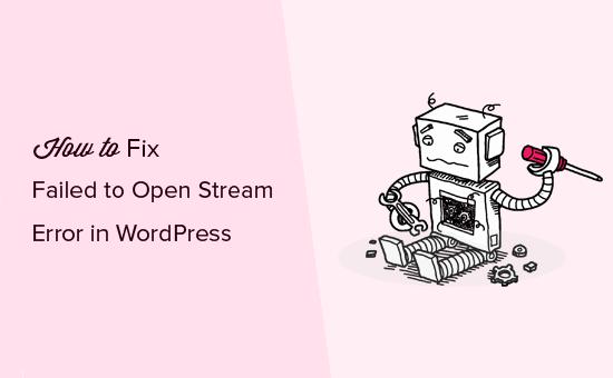 Chyba pri otváraní chyby prenosu v WordPress