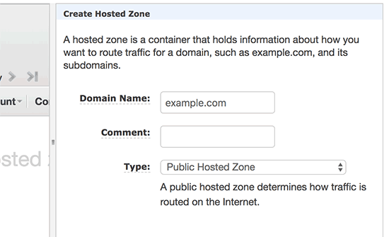 Add domain to a hosted zone