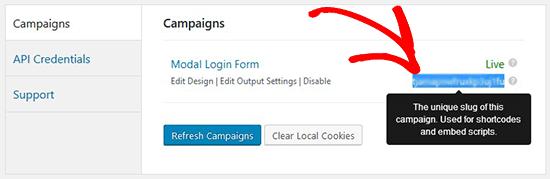 Copy campaign slug