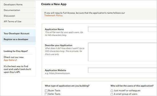 Create a new app
