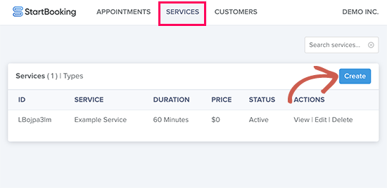 Add and manage services