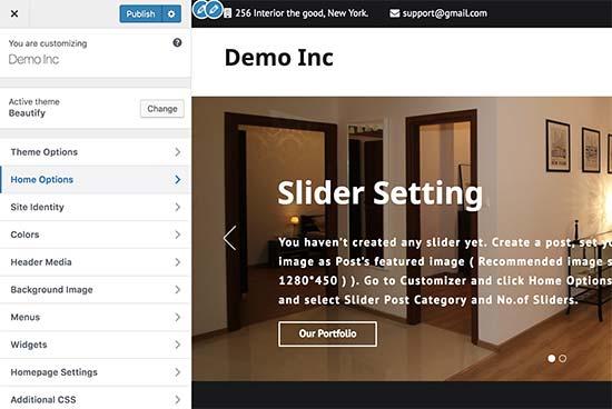 Customize your website design in WordPress