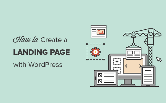 Creating a landing page with WordPress