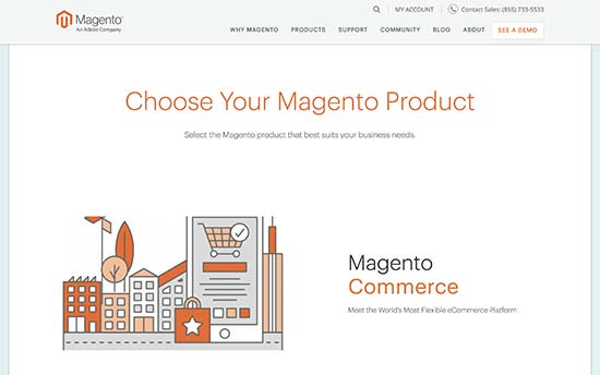 Magento plans and products