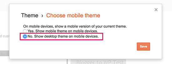 Disable mobile theme