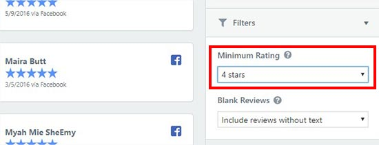 Review filters