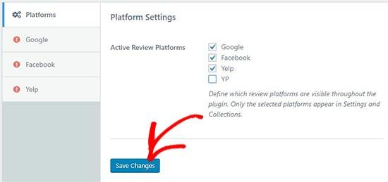 Select review platforms