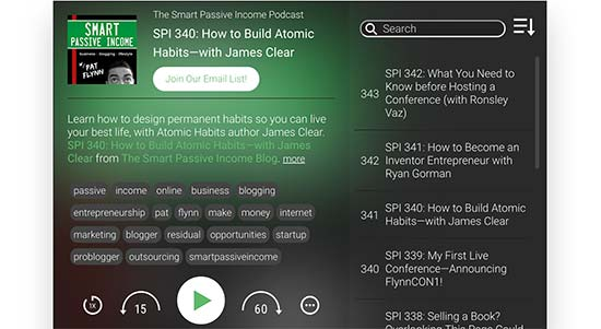 Smart Podcast Player preview