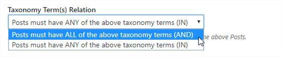 Taxonomy term relation