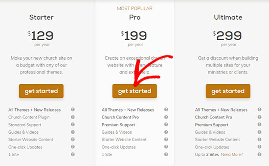 Plans and pricing page