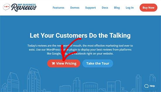 WP Business Reviews website