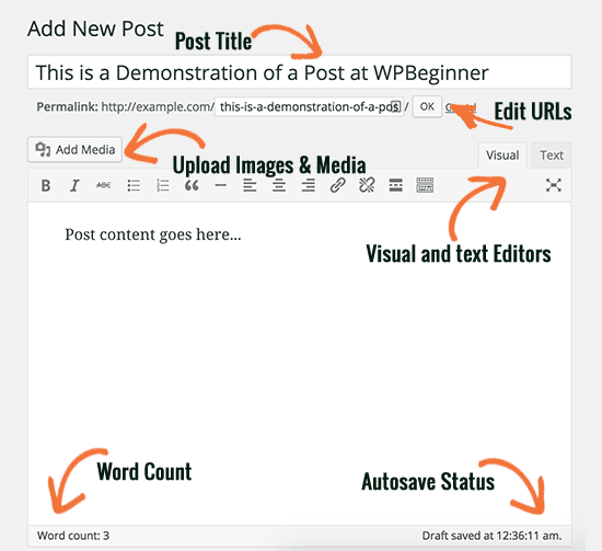 Title and content boxes in the classic editor