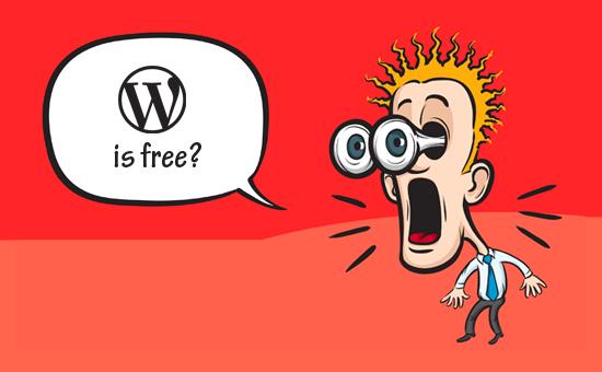 WordPress is free