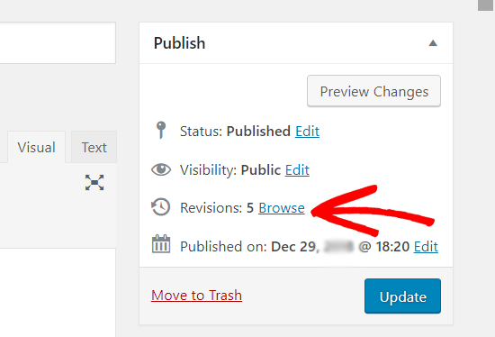 Browse Post Revisions in WordPress Classic Editor