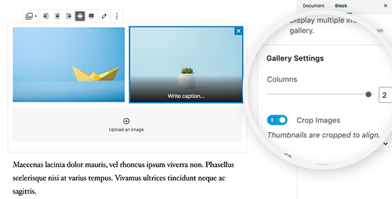 Display two images side by side in WordPress posts and pages