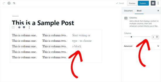 Add more columns to your Columns