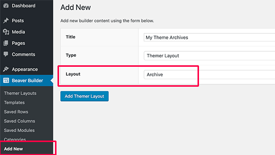 Creating an archive layout for your custom theme