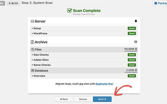 Build duplicator package
