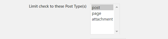 Choose Post Types to Schedule